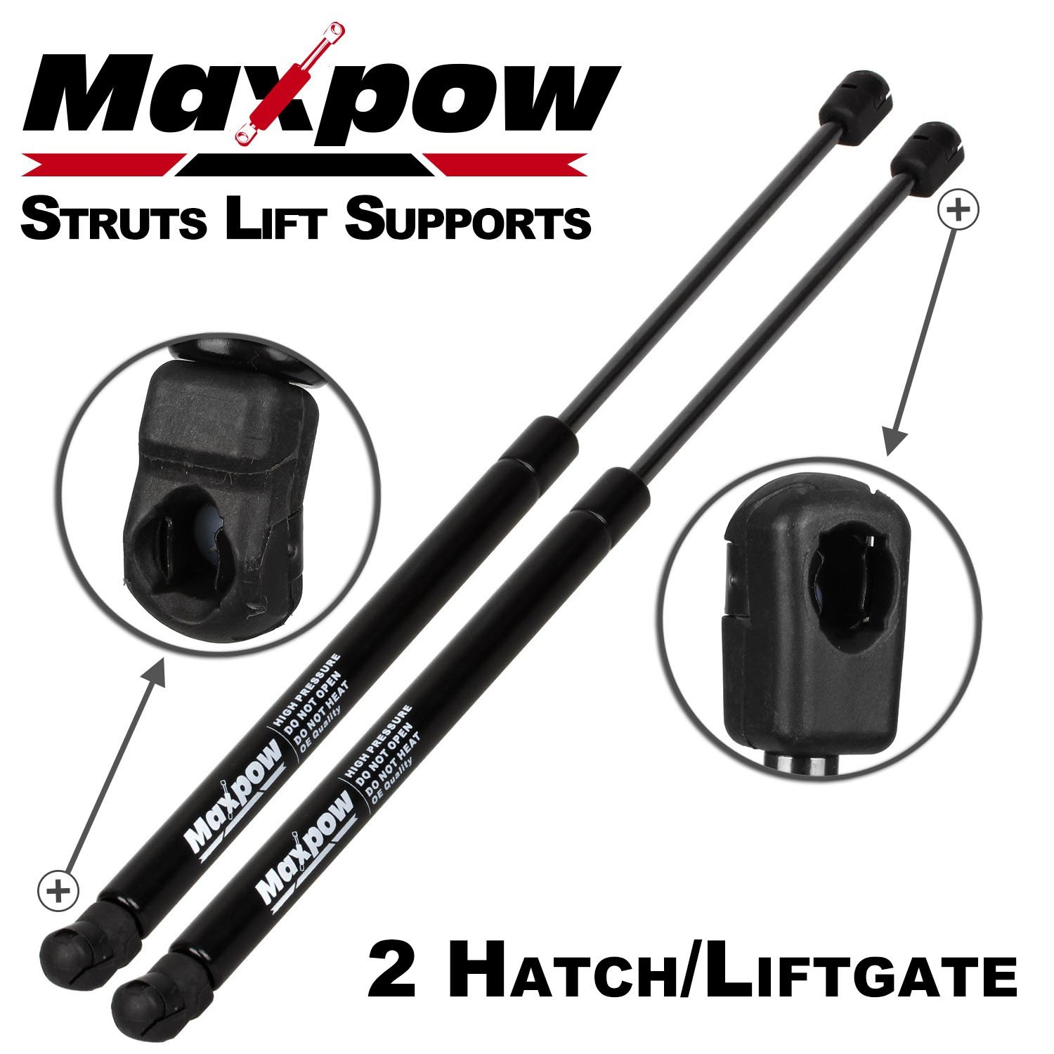 Partsam 2Pcs SG314044 Rear Hatch Liftgate Tailgate Lift Supports Shock Strut Arm with Power Liftgate & Gobi Ladder Compatible With Jeep Grand Cherokee 2005 2006 2007 2008 2009 2010