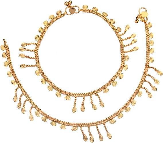 Wedding Indian Bridal Ankle Bracelet Goldplated Barefoot Anklet Designer Jewelry