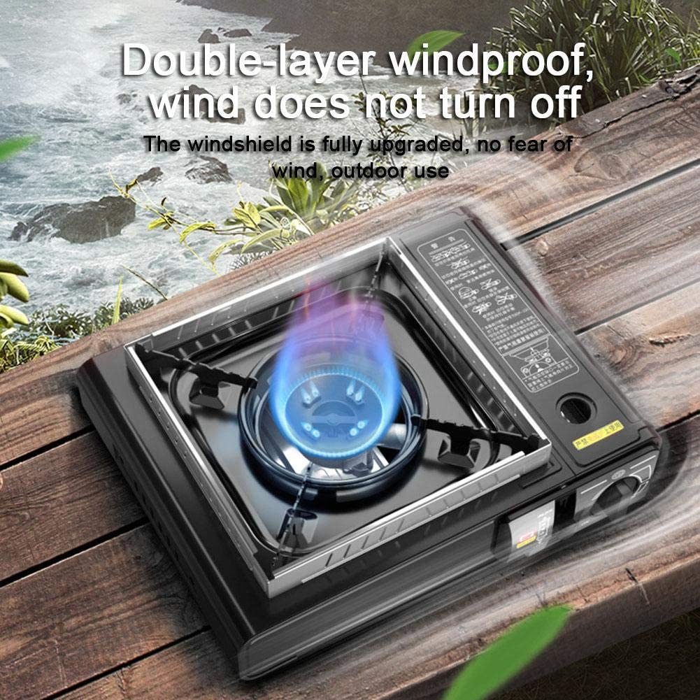 Outdoor Gas Stove Household Cassette Furnace comfy Chirsemey 2.9KW Portable Gas Cartridge Cooker Windproof Cas Hot Pot Wild Barbecue Stove