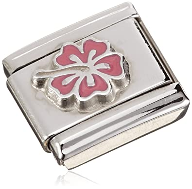 Nomination Hibiscus Pink Women's Charm Stainless Steel Enamel 330202/24 5FOGK7
