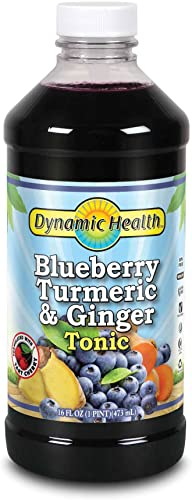 Dynamic Health Blue Berry Turmeric and Ginger Tonic Supplement, 16 Ounce