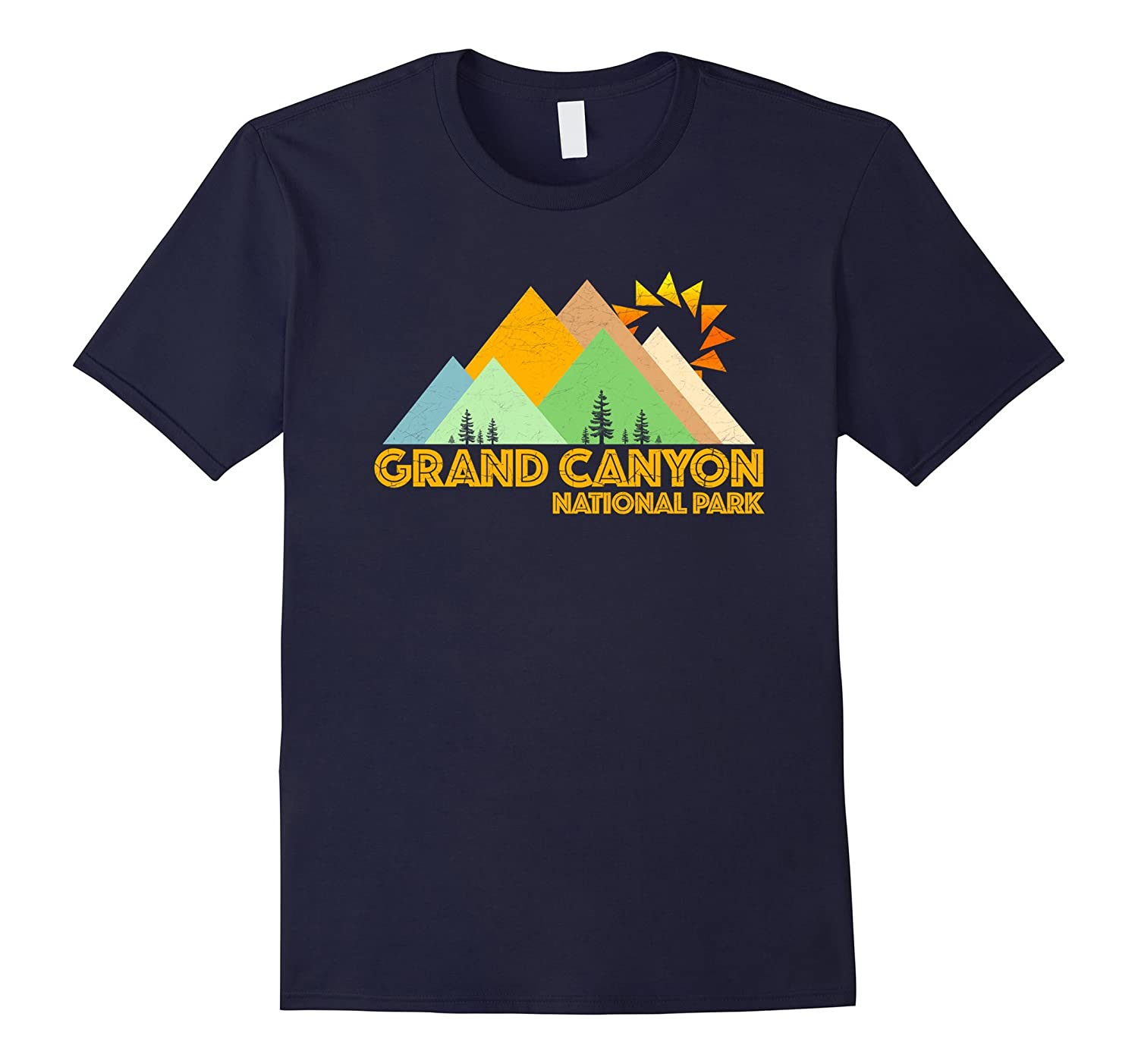 Retro Vintage Grand Canyon National Park Mountains T Shirt-FL