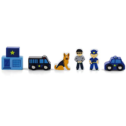 Viga Wooden Fire Station Playset: Amazon.co.uk: Toys & Games