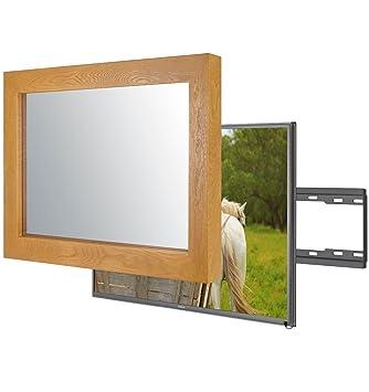 Handgemacht Eingerahmter Spiegel TV mit LG 49UJ670V um: Amazon.de ...