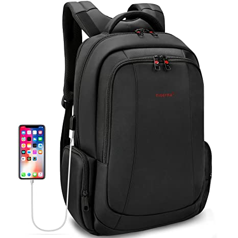 c66f2830a9d1 Uoobag Tigernu Series Business Laptop Backpack Slim Anti Theft Travel  Computer Backpacks Environmentally Waterproof Laptops Bag For Men/Women  15.6Inch ...