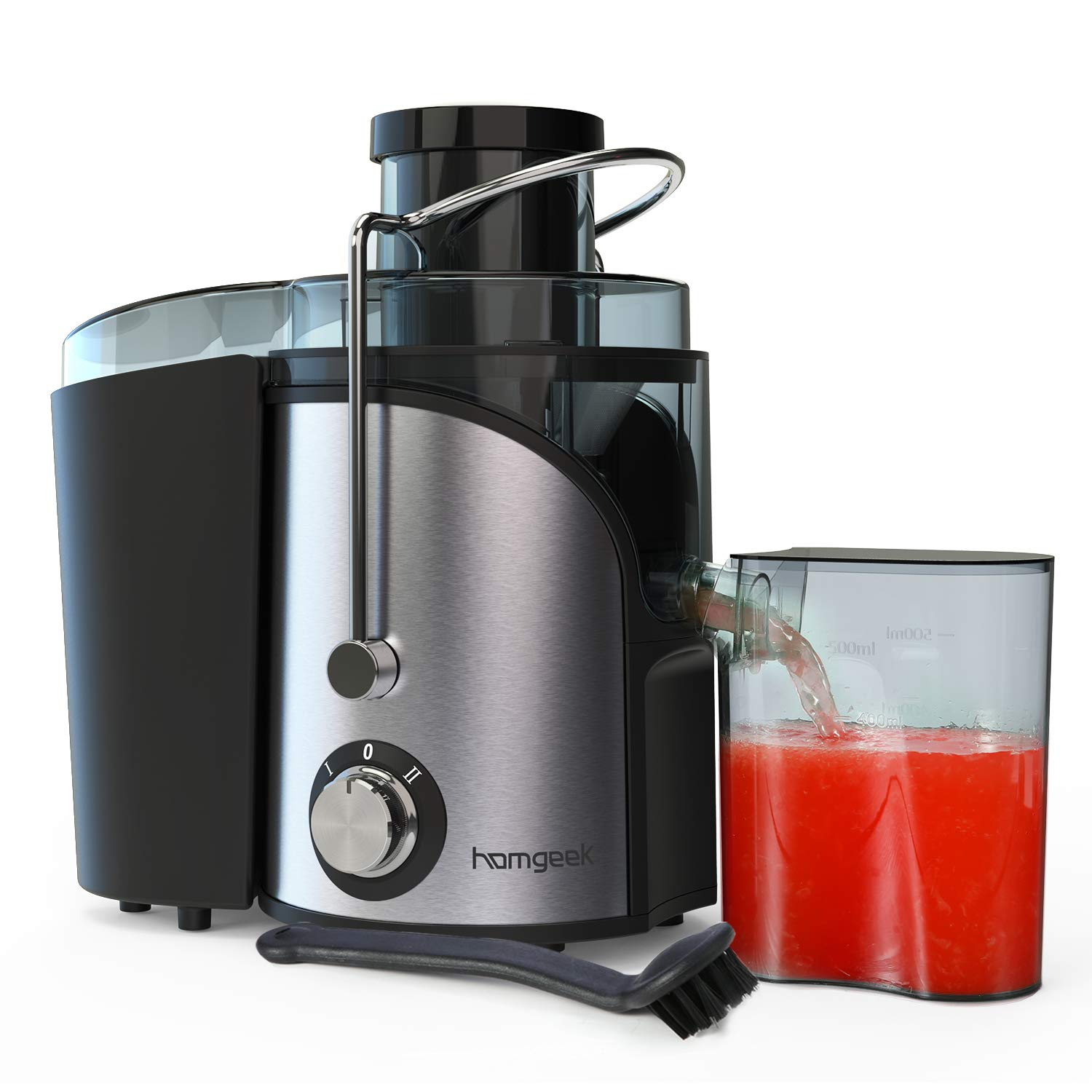Juicer, Homgeek vegetable Juicer Machines, Dual Speed small Juicer with Anti-drip Kit Design, Easy to Clean, Stainless…
