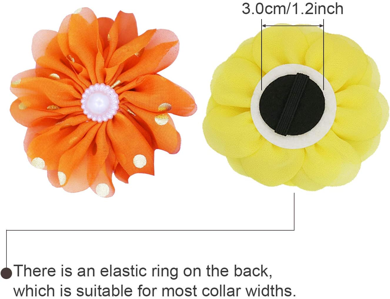 JpGdn 10pcs Dog Collar Charms for Small and Medium Puppy Doggy Animals Sliding Collar Bow Ties Grooming Accessories Daisy Collar Flowers Attachment