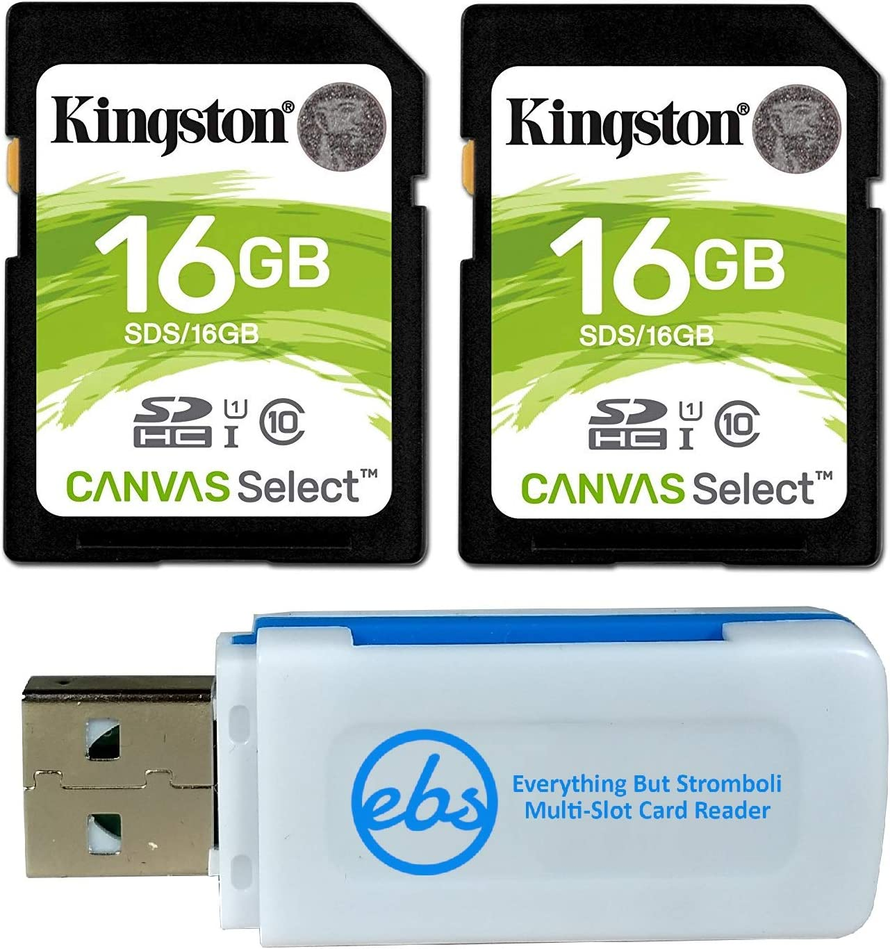 Kingston Canvas Select 64GB SDHC Class 10 SD Memory Card UHS-I 80MB//s R Flash Memory Card SDS//64GB