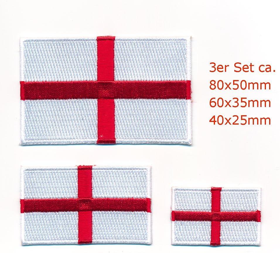 3 England London Birmingham Gb Europa Flaggen Flag Patch Aufnäher Aufbügler 1064 Auto