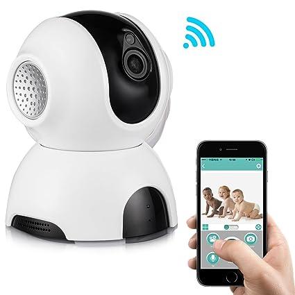 Rukerway IP Cámara Inalámbrica, Monitor de Bebé con Audio de Dos Vías, Cámara de