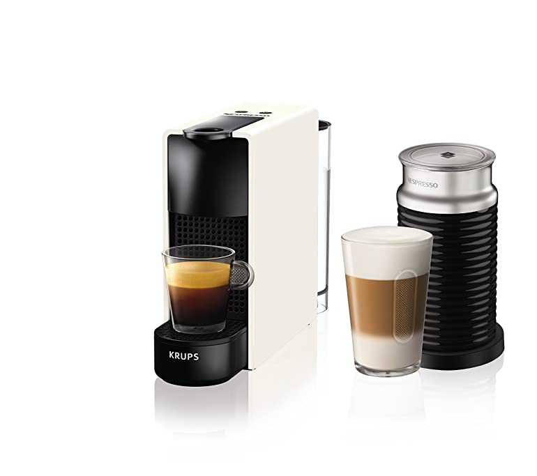 Krups Nespresso by Essenza Mini with Aeroccino, 1200 W, White ...