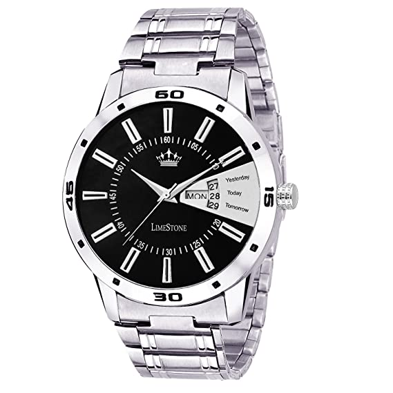 e8ce79f93c43 Buy Limestone Analogue Black Dial Boys And Mens Watch-Ls2646 Online at Low  Prices in India - Amazon.in