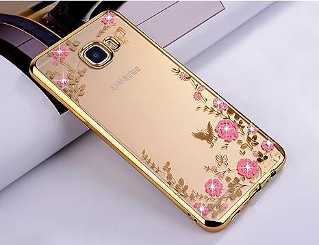ZCRO Handyhülle für Samsung Galaxy A5 2017 / A520, Silikonhülle Hülle Silikon Transparent Klar Schutzhülle Case Glitzer Bling