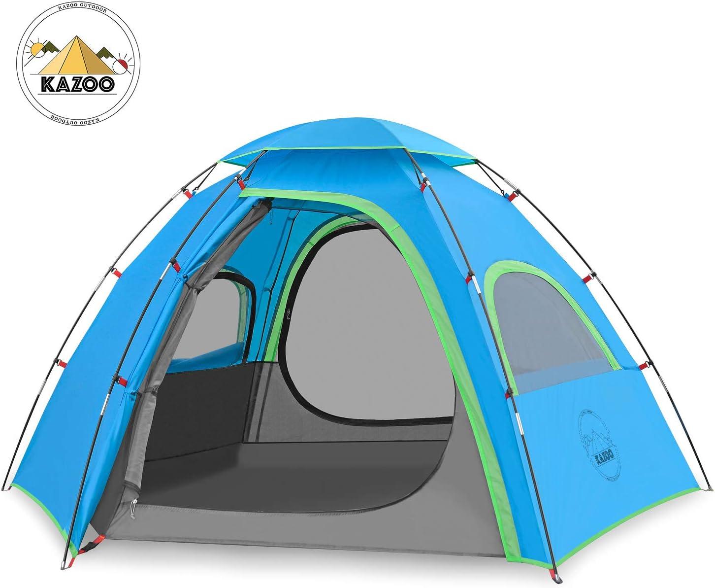 KAZOO Outdoor Camping Zelt für 2 3 Personen,mit vorzelt