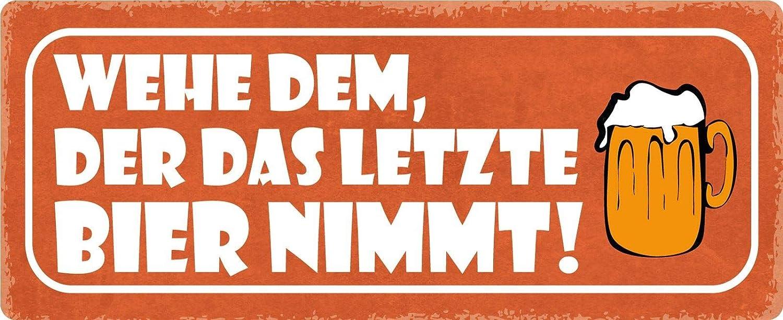 isipho - Cartel de chapa con texto en alemán