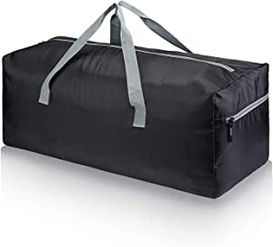 "GEEK LIGHTING 75L Foldable Large Travel Duffel Bag 30"" Water Resistant with Side Pocket (Grey)"