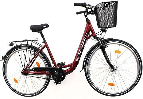 Wallmann 28 Pulgadas City Bike Bicicleta Aluminio 7 de Marchas ...