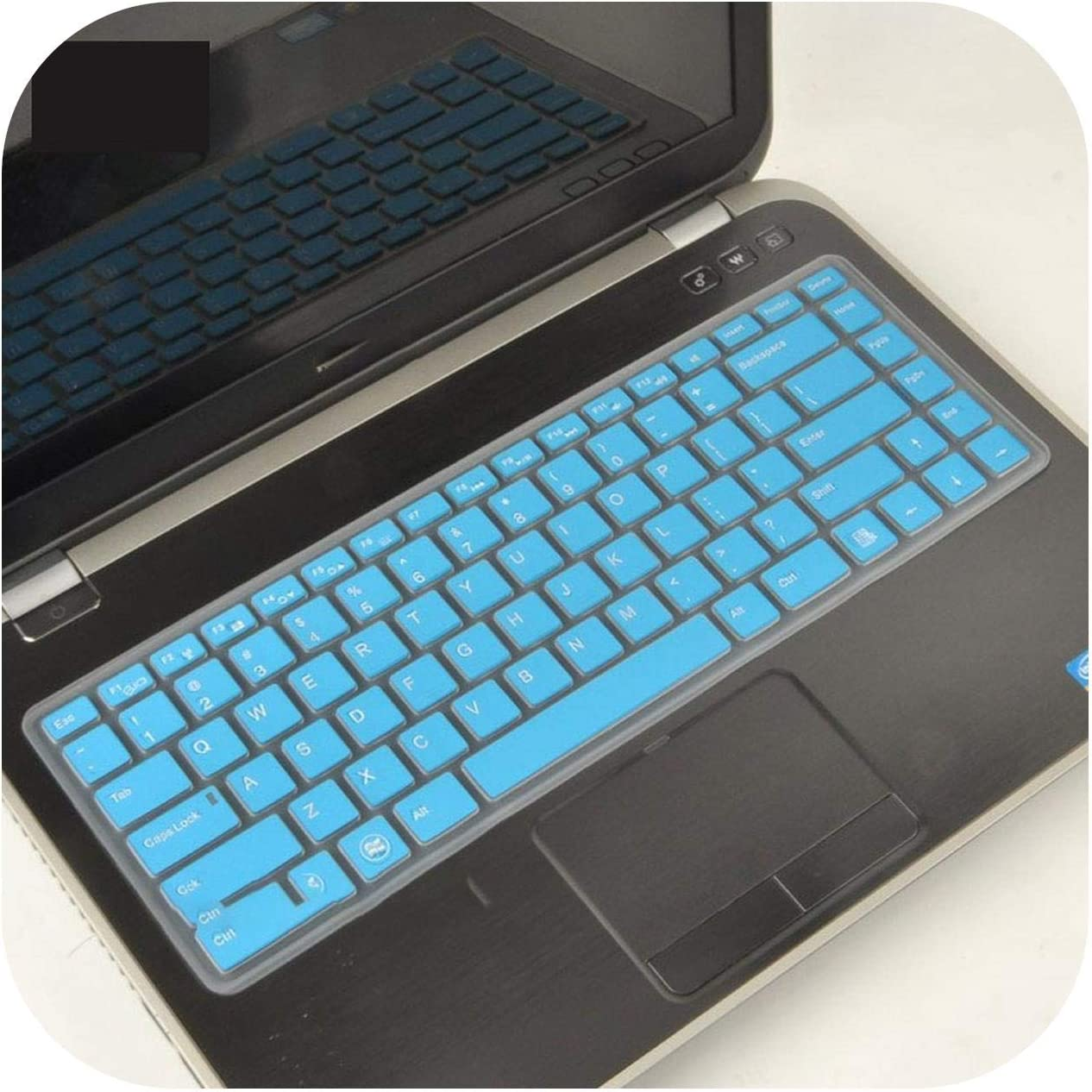 Film Pour Clavier 14 Inch Laptop Keyboard Cover for Dell Inspiron 14R 5437 N4050 N4110 3437 5525 5520 1420 1410 1520 1525 1545 1500-Blue