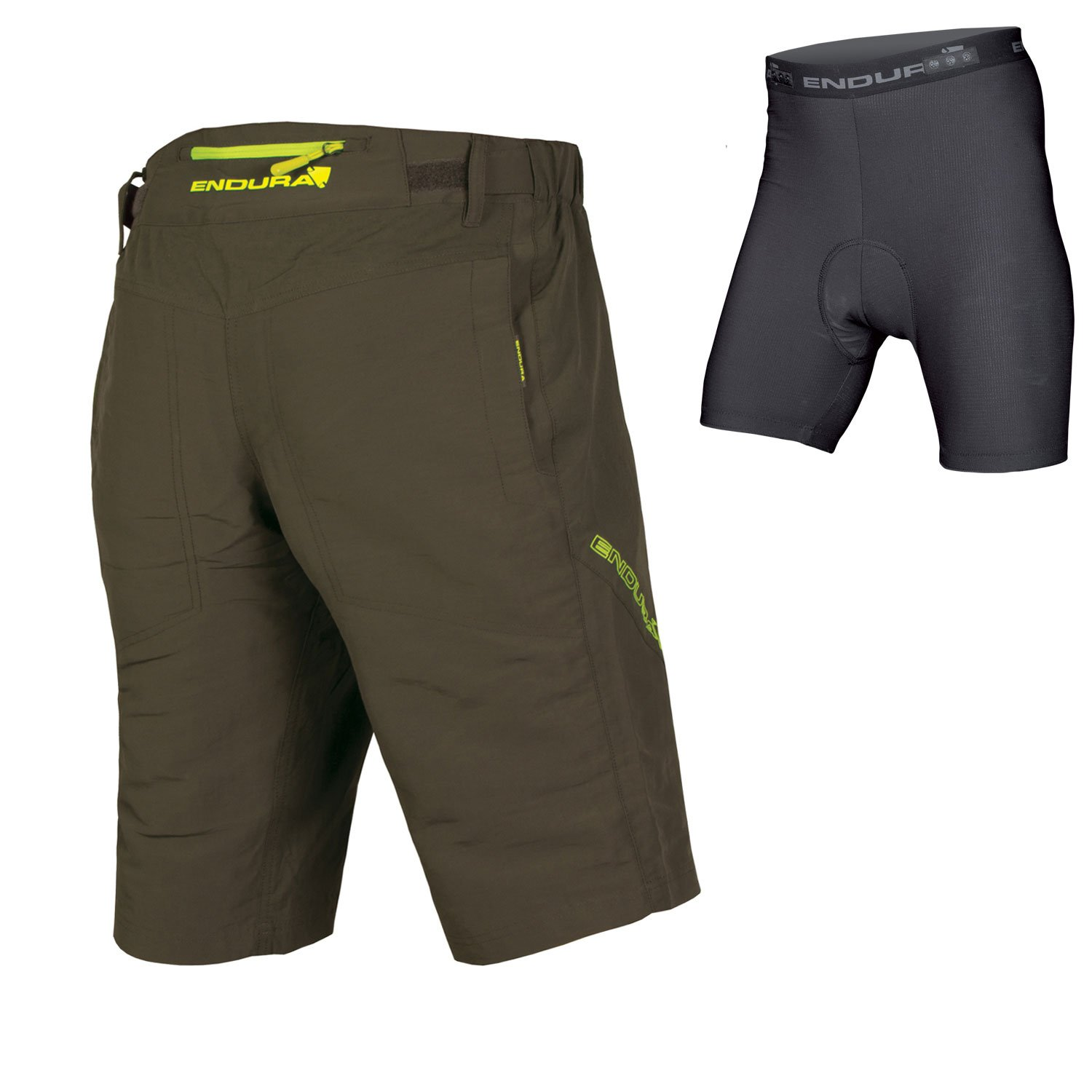 Endura SingleTrack III Baggy Cycling Short with Liner Khaki