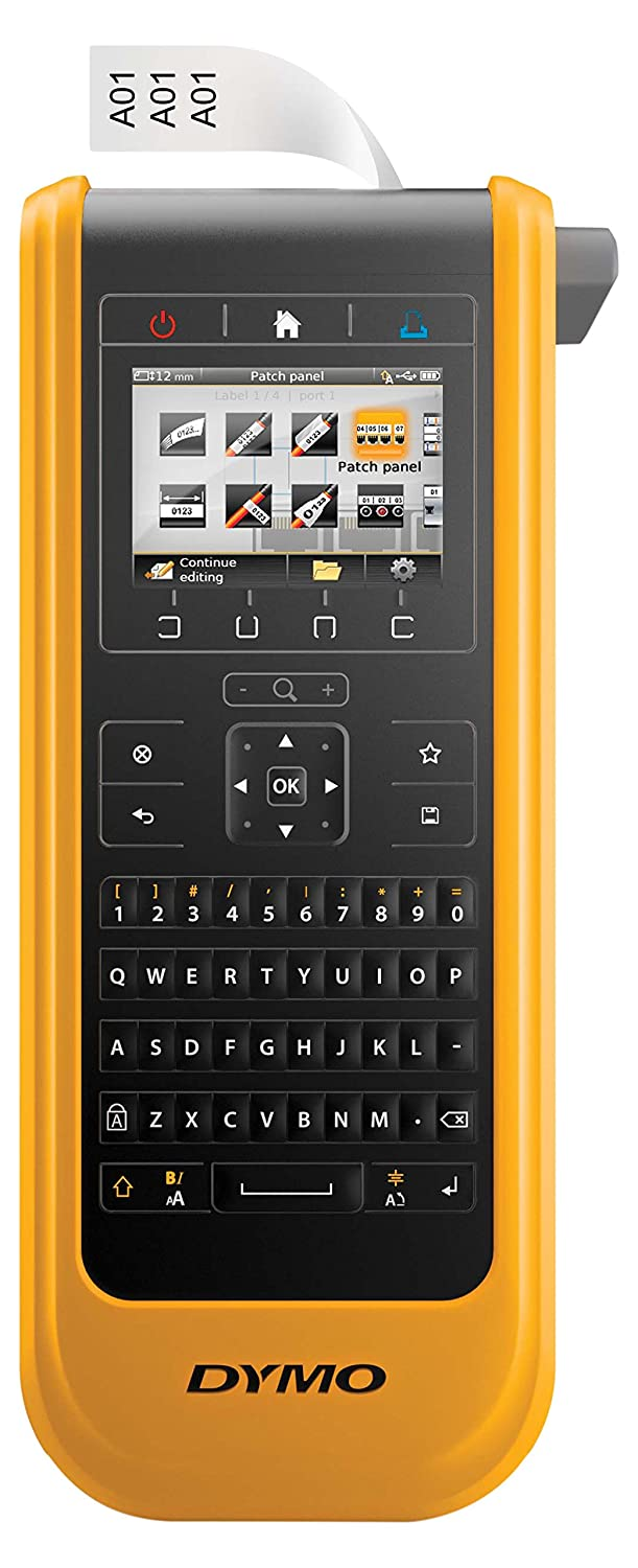 DYMO XTL 300 LABEL MAKER KIT, QWERTY, 1IN, BLACK AND YELLOW, INCLUDING: XTL300 P  B014SXTXCK