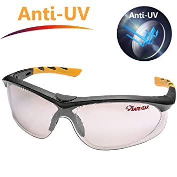 fa6b68d771b3f SAFEYEAR Lunette de Protection Travail –SG004 Anti-Rayures Homme Taille Lunettes  Protection Ellipse