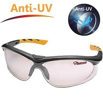 a0e940cb83de57 SAFEYEAR Lunette de Protection Travail –SG004 Anti-Rayures Homme Taille  Lunettes Protection Ellipse,