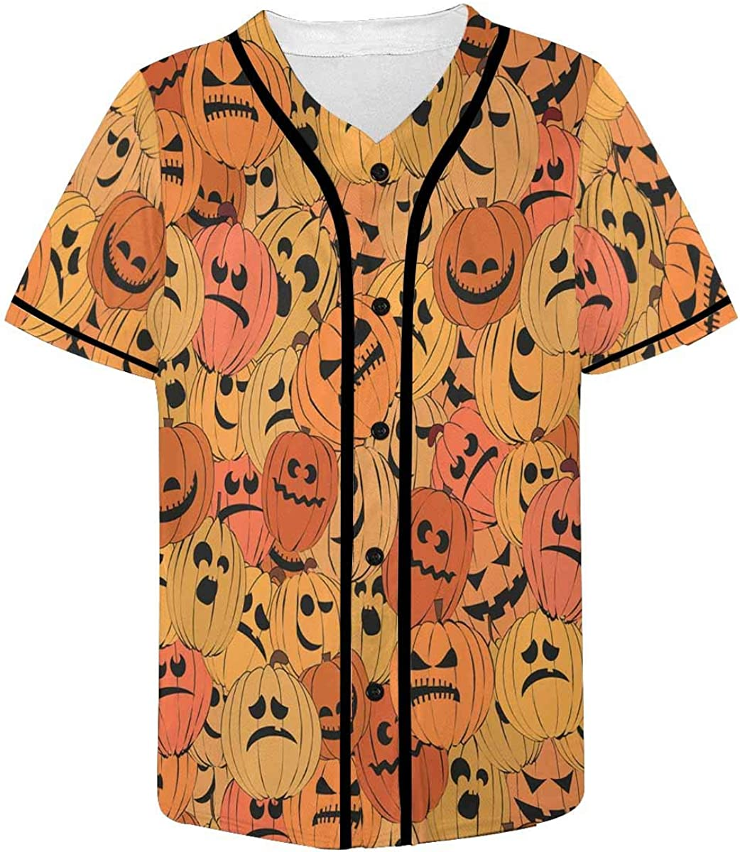 INTERESTPRINT Mens Party Long Sleeve Hawaiian Shirt Cute Faces