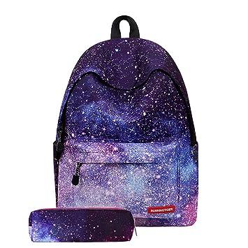 YRMING® Mochila Escolar con Estampado Galaxia para Portátil Mochilas Bolso a Juego del Lápiz,para Estudiantes Cool Unisex Galaxy Bandolera,M: Amazon.es: ...