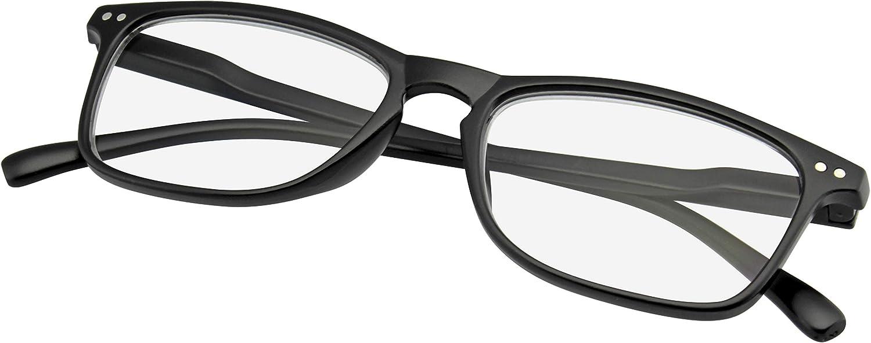 Occhiali da Lettura Da Donna Uomini Corno Bordato Retro Lettore Buco Della Serratura Lettori Occhiali Emblem Eyewear 1.00, Blu
