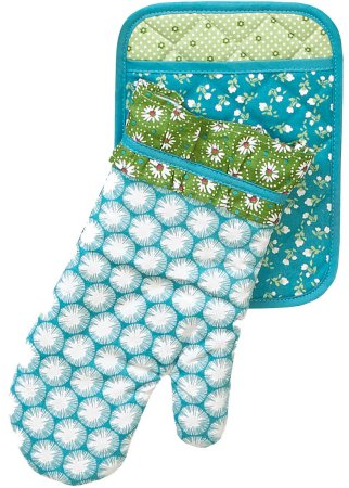 The Pioneer Woman Dandelion Pot Holder/Oven Mitt Set - Walmart.com