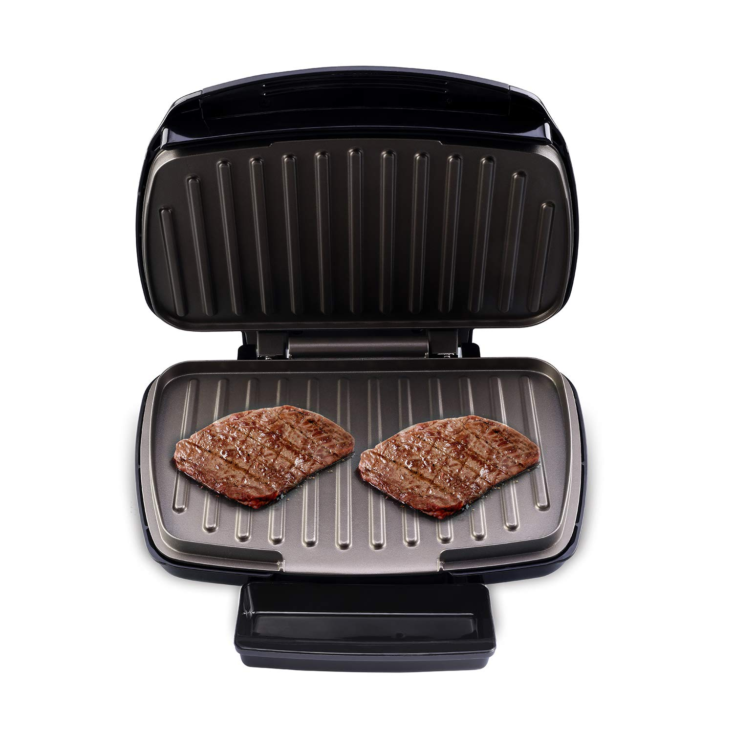 Health and Home 2-Serving Classic Plate Grill Maker and Panini Press, Black, KS-306 by Health and Home