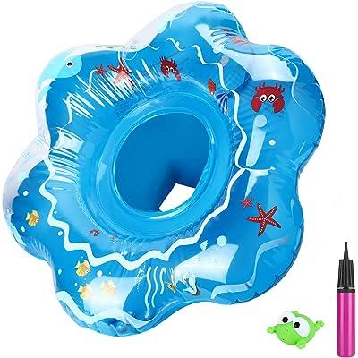joylink Flotador para Bebé, Flotador Anillo de Natación Flotador de Aprendizaje de Piscina Baby Float con Inflador para Bebé y Niños de 12 a 36 Meses