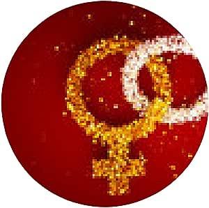 alfombrilla de ratón 3d imagen de signos de género de oro y ...