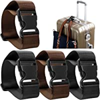 4 Pack Add a Bag Luggage Strap, AFUNTA Adjustable Travel Suitcase Belt Attachment Accessories for Connect Your Three Luggage Together
