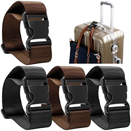 5adc6ba5d8f6d Amazon.com  4 Pack Add a Bag Luggage Strap