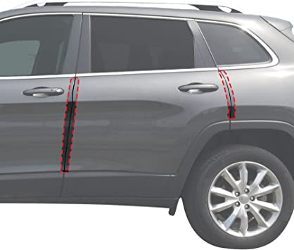 Red Hound Auto Door Edge Lip Guards 2011-2018 Compatible with Dodge Durango 6pc Clear Paint Protector Film Not Universal Pre-Cut Custom Fit