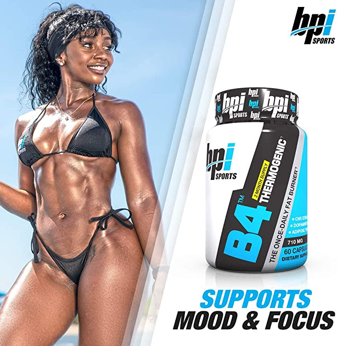 Amazon Com Bpi Sports B4 Thermogenic The Once Daily Fat Burner 60 Count Health Personal Care