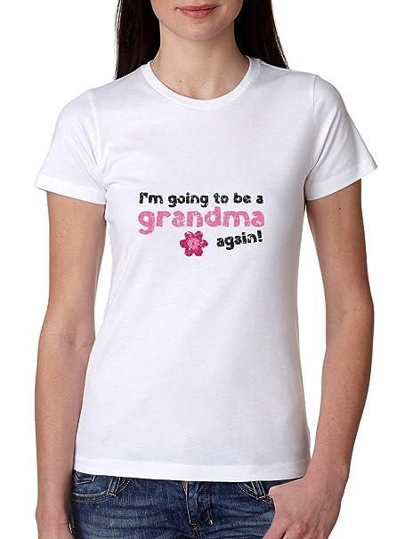 I m going to be a la abuela de nuevo. embarazo maternidad camiseta de