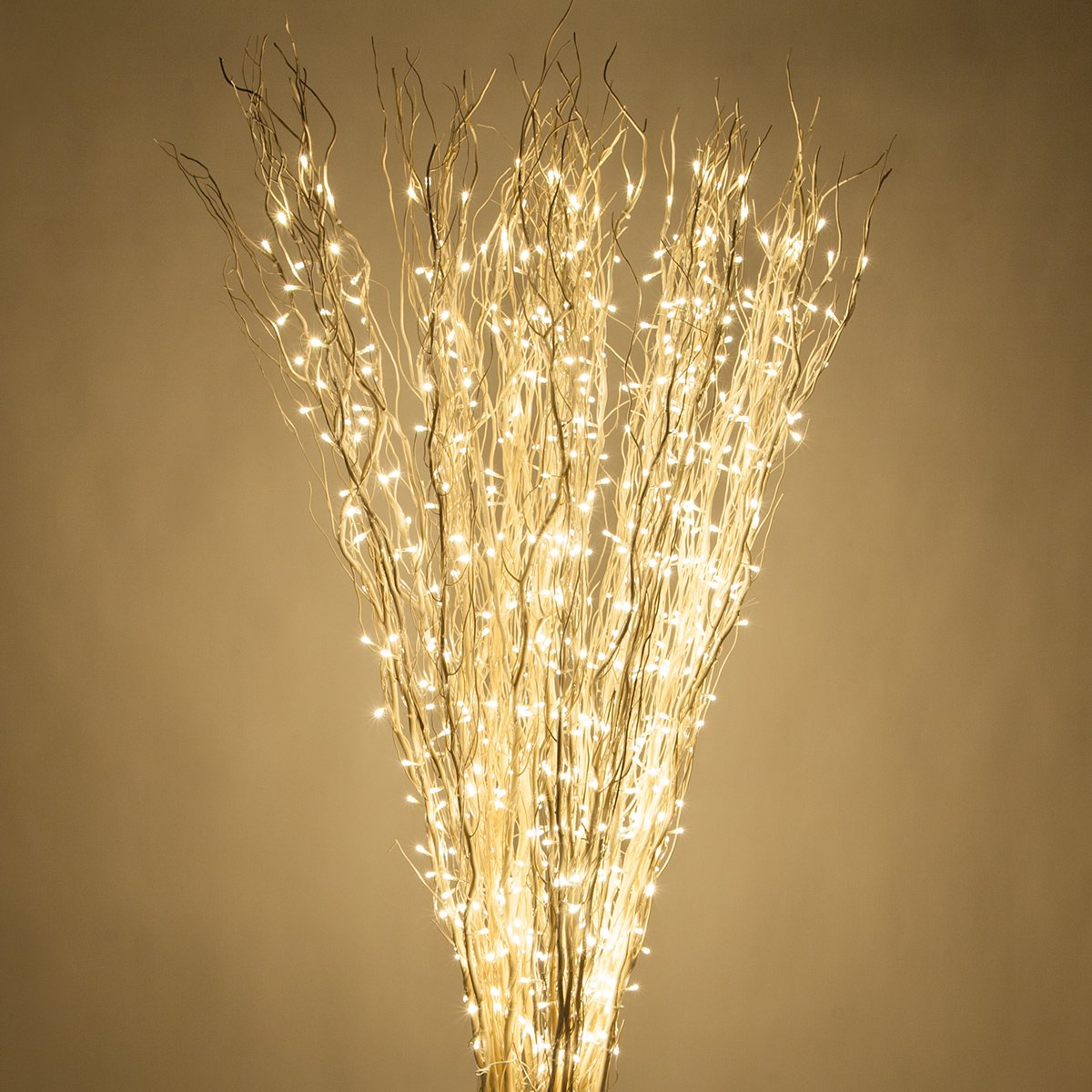 Lighted Branches LED Branch Lights (72'', White Willow Branches, Warm White Lights)