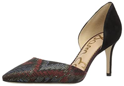 ce27835275 Sam Edelman Women's Telsa Pump, Cranberry Multi Deco Jacquard, 5 Medium US