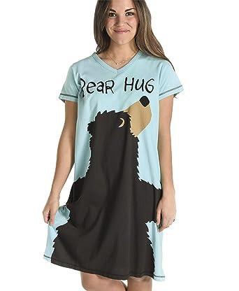 95bbaae8ea Amazon.com  Women s Animal Pajama Nightshirt by LazyOne