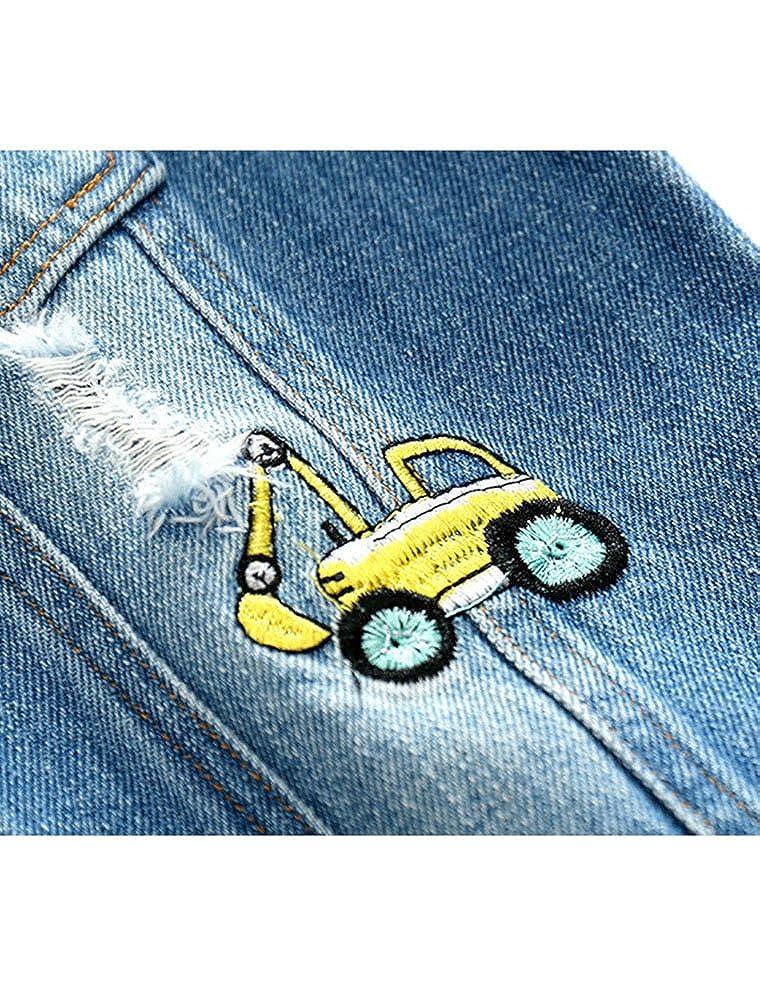 df2d6d5f9 Abolai Baby Boys  Basic Denim Jacket Hoodie Button Down Jeans Jacket ...