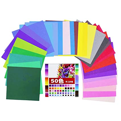 Buy Asianhobbycrafts Multicolor Origami Paper Pack Of 50 Sheets