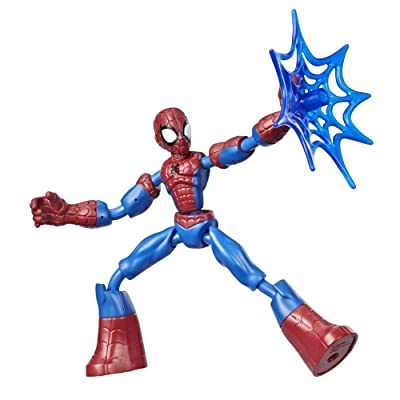 Spider-Man Marvel Bend and Flex Action Figure Toy, 6-Inch Flexible Figure, Includes Web Accessory, for Kids Ages 4 and Up: Toys & Games