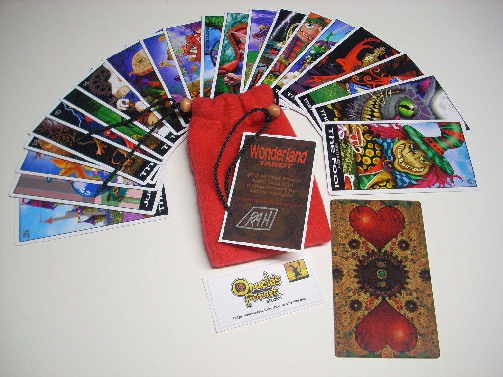 Wonderland Tarot Cards - 22 Card Major Arcana Deck (With Handmade Tarot bag) PDF