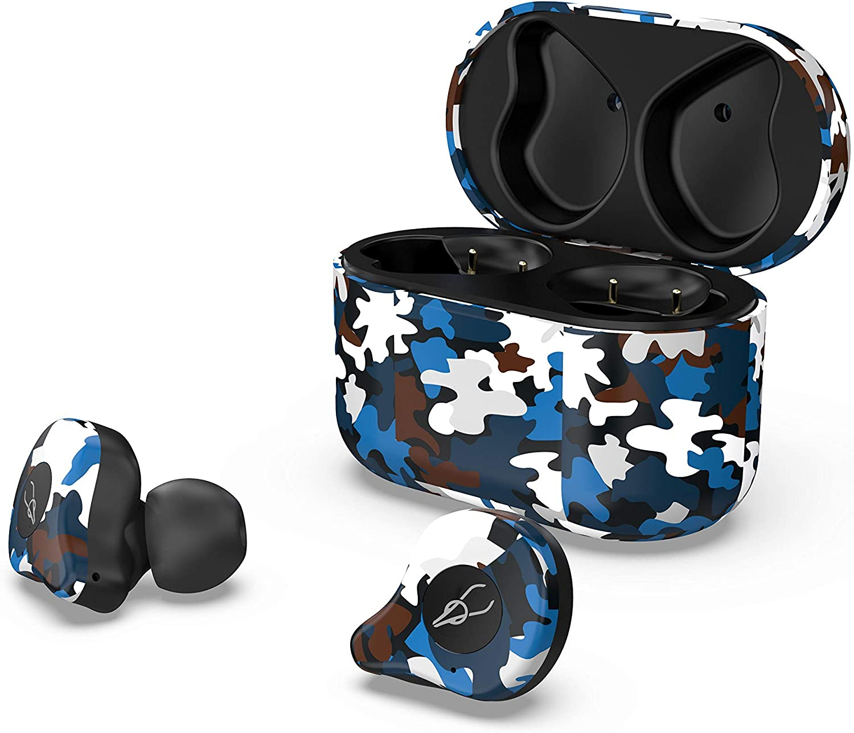 RONSHIN Headphones//Earphones//Earbuds//Headsets Sabbat E12 Ultra Camouflage TWS Bluetooth 5.0 Earphone Stereo Wireless Sport Earbuds Caribbean