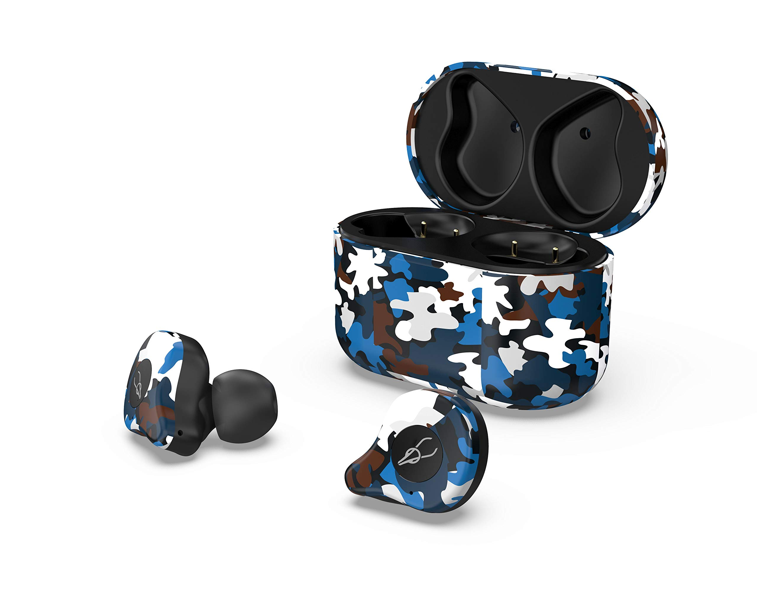 RONSHIN Headphones/Earphones/Earbuds/Headsets Sabbat E12 Ultra Camouflage TWS Bluetooth 5.0 Earphone Stereo Wireless Sport Earbuds Caribbean by RONSHIN