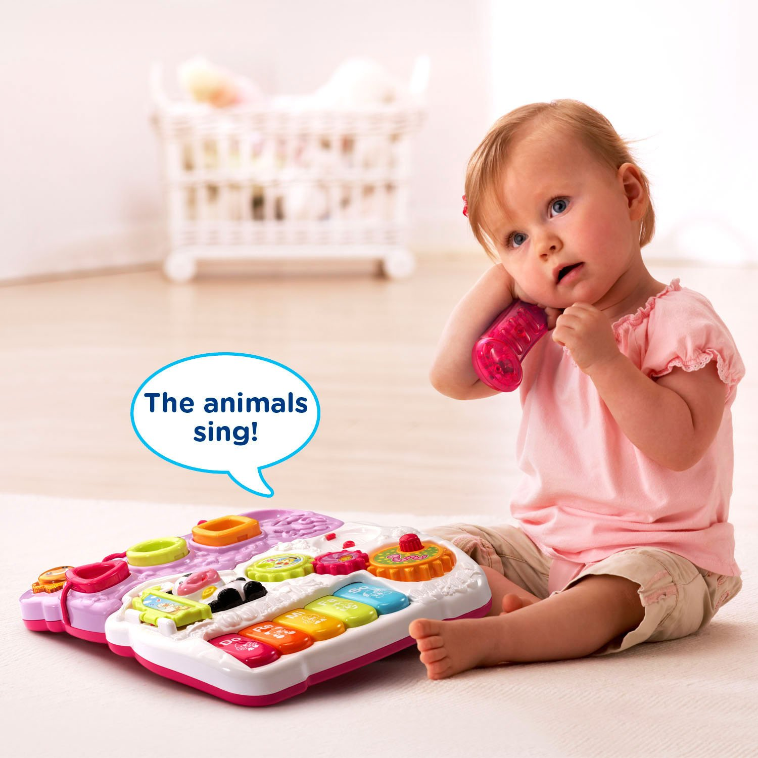 Amazon VTech Sit to Stand Walker Pink Toys & Games