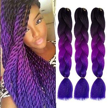 Amazon Com Jumbo Braids Ombre 3tone Synthetic Kanekalon Hair