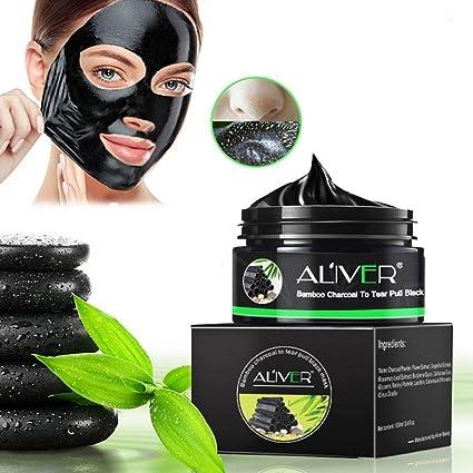Máscara para eliminar puntos negros, máscara de carbón activado de bambú, máscara de purificación